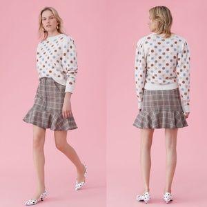 Rebecca Taylor La Vie Plaid Ruffled Mini Skirt